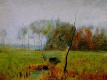 Emil Carlsen Spring Landscape (study for Summer Mist), 1882