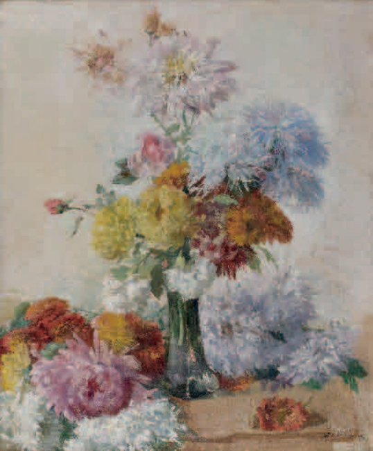 Emil Carlsen Vase of Flowers, 1885