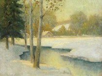 Emil Carlsen A Winter Stream, ca.1905