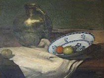 Emil Carlsen Copper Jug and Apples, 1900