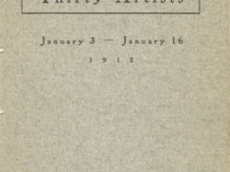 """1912 The Macbeth Gallery, New York, NY, """"Thirty Paintings by Thirty Artists"""", January 3-16"""
