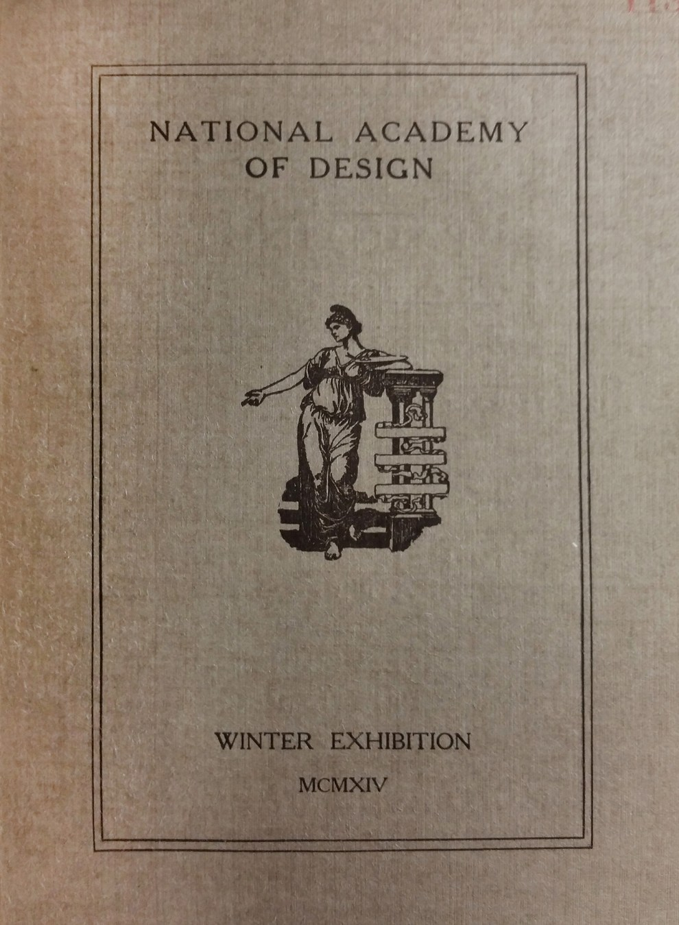 "1914 National Academy of Design, New York, NY, ""Winter Exhibition"", December 19, 1914 - January 17, 1915"