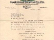 """Sesquicentennial International Exposition Gold Medal for O Ye of Little Faith"" provided by Linda Hay, Fair Grounds for the World's Fair, Philadelphia, PA, October 8, 1926"