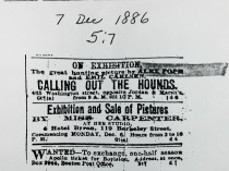 "Daily Evening Transcript, Boston, MA, ""Calling Out The Hounds"", December 7, 1886, section 5:7"