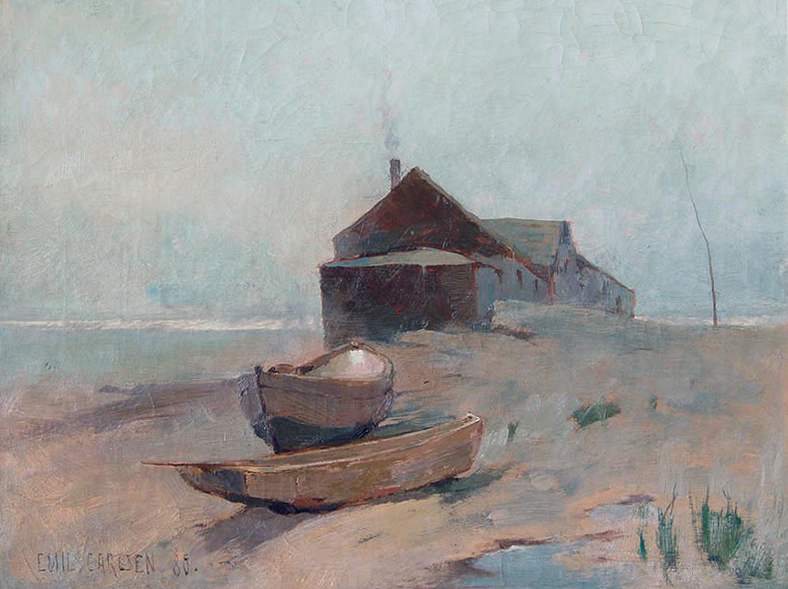 Emil Carlsen : The boat house, 1888.