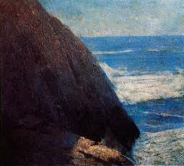 Emil Carlsen Seascape with Rock, c.1930