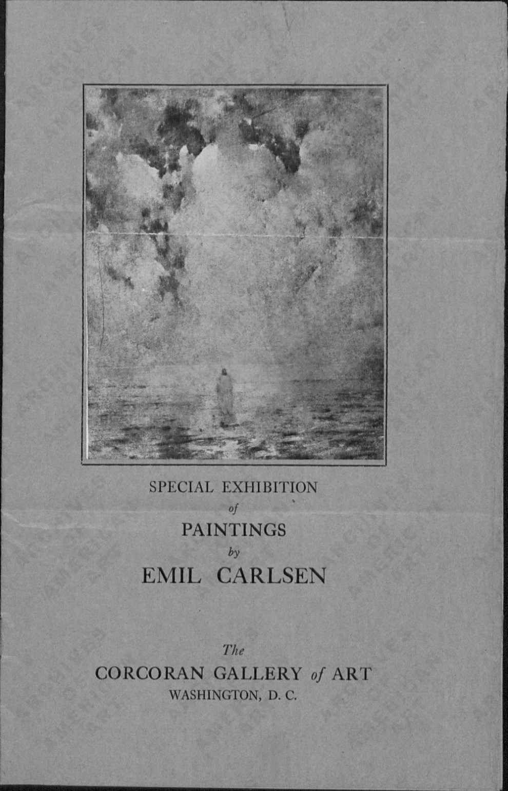 """Emil Carlsen and Carnegie Institute Correspondence"" provided by the American Art Archives, Series 3: Exhibitions, 1901-1940, Box 188, folder 1."