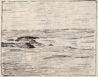 Emil Carlsen Surf, Ogunquit, ME, c.1920
