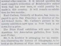 """Boston Post, Boston, MA, """"The Fine Arts"""", April 26, 1887, Page 4"""