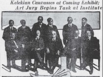 """The Pittsburgh Daily Post, Pittsburgh, PA, """"Art Jury Begins Task at Institute"""", April 10, 1921, Page 46"""