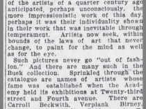 """The Brooklyn Daily Eagle, Brooklyn, NY, """"Brooklynites Water Colors"""", May 22, 1909, Page 4"""