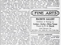 "The Brooklyn Daily Eagle, Brooklyn, NY, ""The World of Art"", January 26, 1916, Page 8"