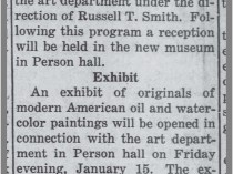 "The Daily Tar Heel, Chapel Hill, NC, ""F P Graham Will Dedicate New Art Hall"", January 13, 1937, Page 1"