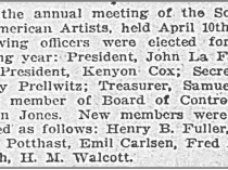 "The Times, Richmond, VA, ""Art Notes"", April 20, 1902, First Edition"