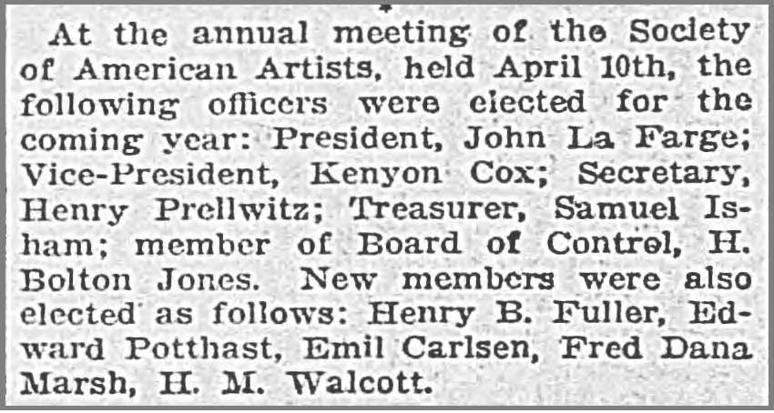 """The Times, Richmond, VA, """"Art Notes"""", April 20, 1902, First Edition"""