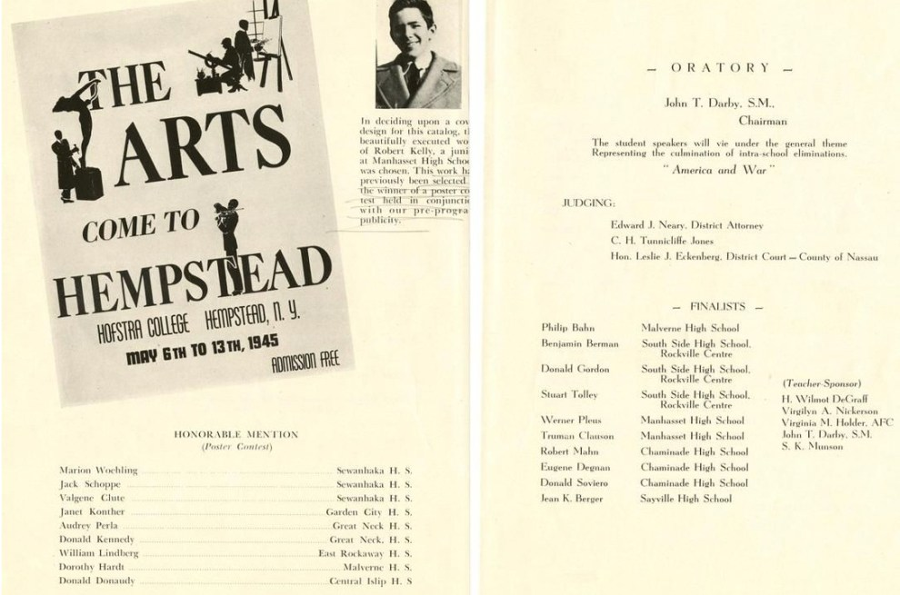 "1945 Hofstra College, Hemptead, NY, ""The Arts Come To Hempstead"", May 6-13"
