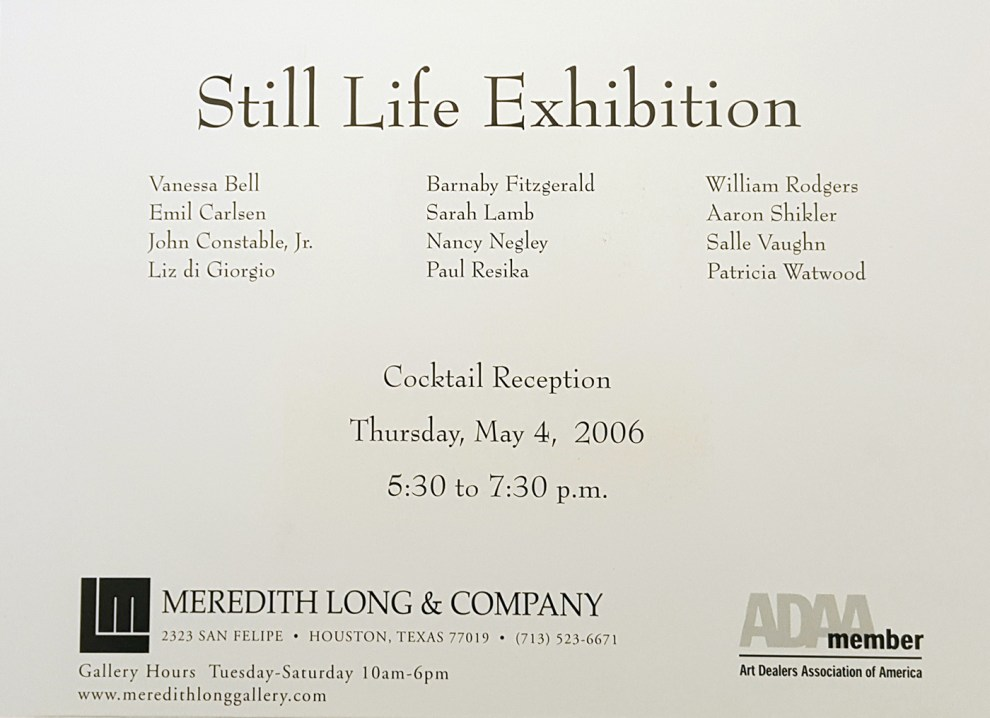 """Emil Carlsen Ad for Meredith Long & Company"", Houston, TX, unknown magazine, 2006, illustrated: color"
