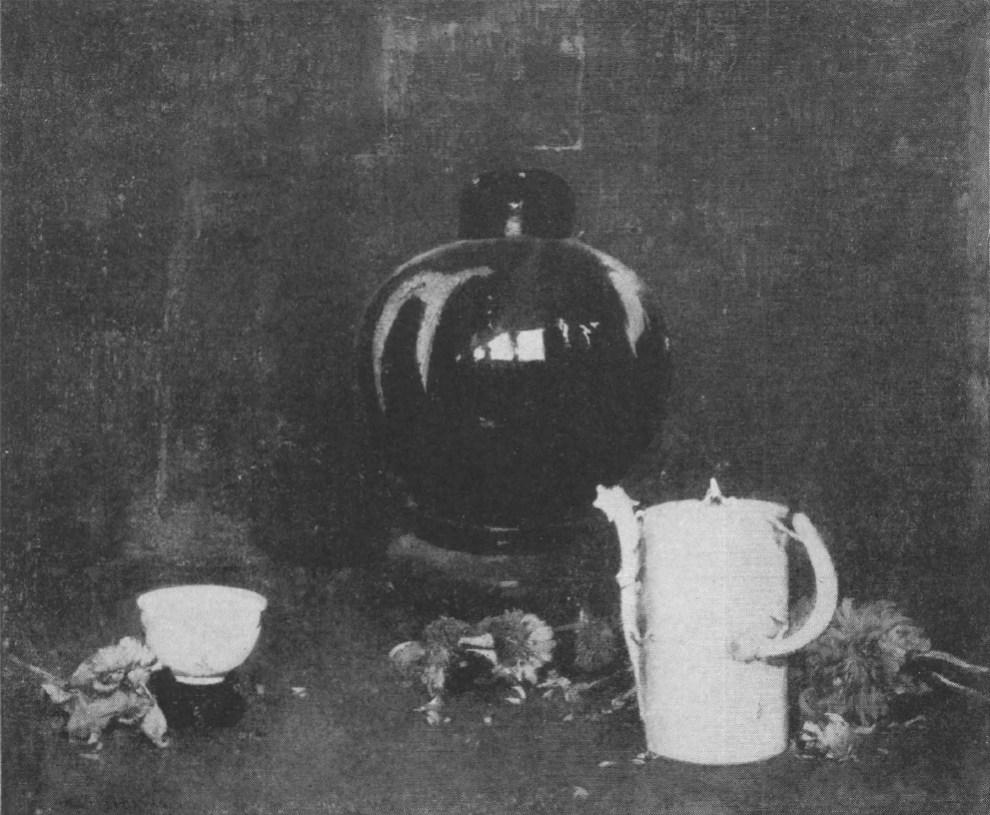 Emil Carlsen : Chinese rose jar, ca.1923.