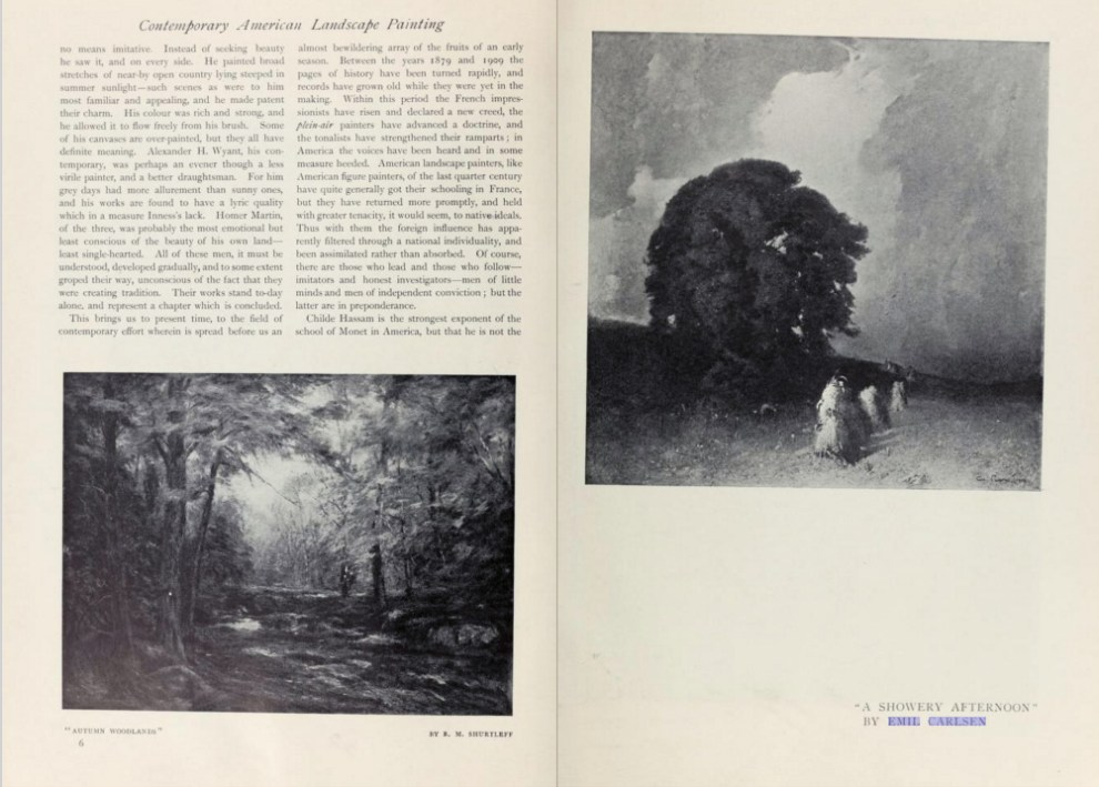 "International Studio, New York, NY, ""The Studio: Contemporary American Painting"" by L. Mechlin, 1910, volume 39, November, Number 153, pages 3-14, illustrated: B&W"