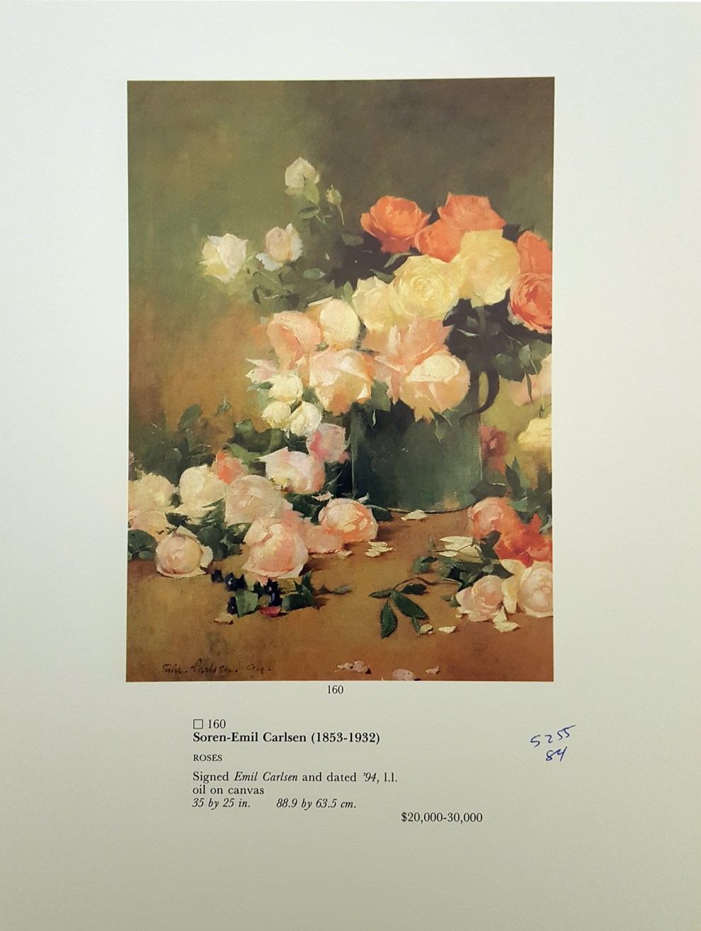 "1984 Sotheby Parke Bernet, New York, NY, ""Sale Number 5255"", December 6"