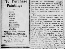 """New York Tribune, New York, NY, """"The Craftsmanship of Emil Carlsen"""", December 21, 1919, Sunday, First Edition, Page 41, illustrated: B&W"""