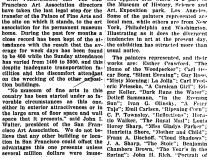 """The Christian Science Monitor, New York, NY, """"Pacific Coast Art Notes"""", October 6, 1916, page 6, not illustrated."""