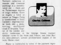 """The Palm Beach Post, West Palm Beach, FL, """"Light, Water Celebrated At Norton"""", Sunday, August 26, 1979, page 115, not illustrated."""