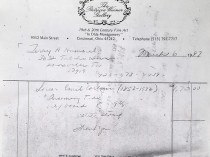 """""""Invoice for Emil Carlsen's Incoming Tide"""" provided by the Patricia Weiner Gallery, Cincinnati, OH, March 6, 1997"""