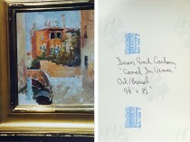 """Photograph of Emil Carlsen's Canal in Venice"" provided by the Patricia Weiner Gallery, Cincinnati, OH, c.1997"