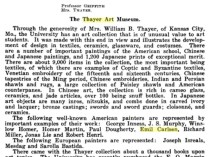 "The University of Kansas, Lawrence, KS, ""Annual Catalog"", March 1, 1920, volume 21, number 5, page 418, not illustrated."