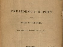 """Wellesley College. The President's Report to the Board of Trustees, for the Year Ending June 19, 1883.- Supplementary Report: At the Opening of the College Year, 1883-'84"" by Alice E. Freeman, Boston, MA, 1883, page 10-11, not illustrated"
