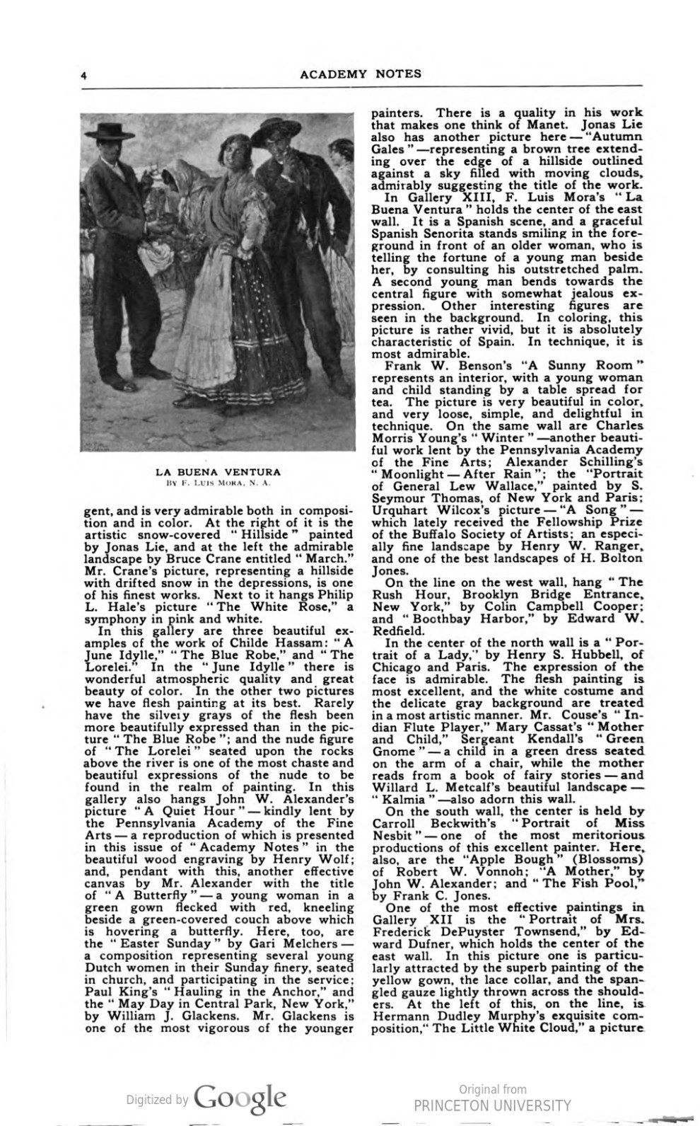 """Academy Notes, Buffalo Fine Arts Academy, Albright Art Gallery, Buffalo, NY, """"First Exhibition of Selected American Paintings at the Albright Gallery"""", June, 1906, Volume 2, Number 1, page 1-5, not illustrated"""
