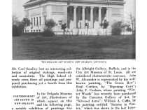 """Art and Progress, """"Contemporary Art Show in New Orleans"""" by The American Federation of the Arts, Volume 4, 1913, pg. 878, not illustrated"""