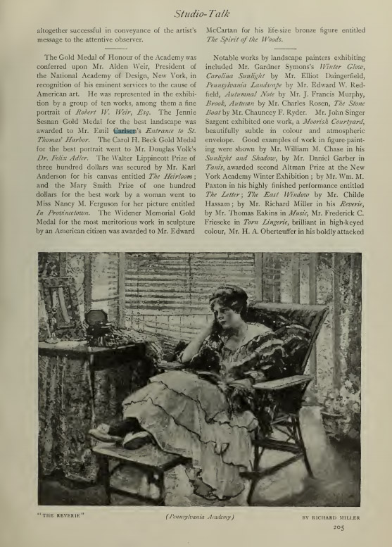 "International Studio, New York, NY, ""Reviews and Notices"", March, 1916, volume 58, number 229, illustrated:b&w on page 73"