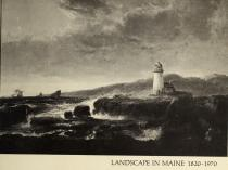 """1970 Maine Federation of Women's Clubs, Limerick, ME, """"Landscape in Maine 1820-1970: Sesquicentennial Exhibition"""", April 4 – May 10, Colby College Art Museum, Waterville, ME; Bowdoin College Museum of Art, Brunswick, ME, May 21 – June 28; Carnegie Gallery, University of Maine, Orono, ME, July 8 – August 30."""