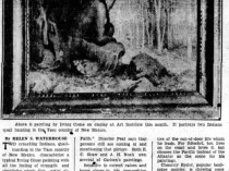 "Akron Beacon Journal, Akron, OH, ""Art Among Aborigines"" by Helen S. Waterhouse, Friday, January 20, 1928, page 33, not illustrated"