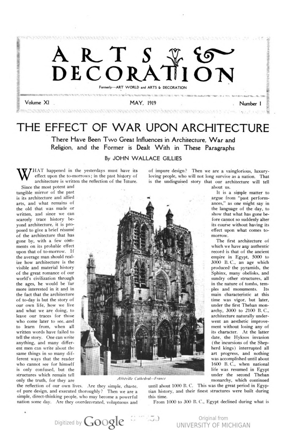 "Arts and Decoration, New York, NY, ""Exhibitions in the new york galleries"" by Peyton Boswell, May, 1919, Volume 11, Number 1, page 36, not illustrated"