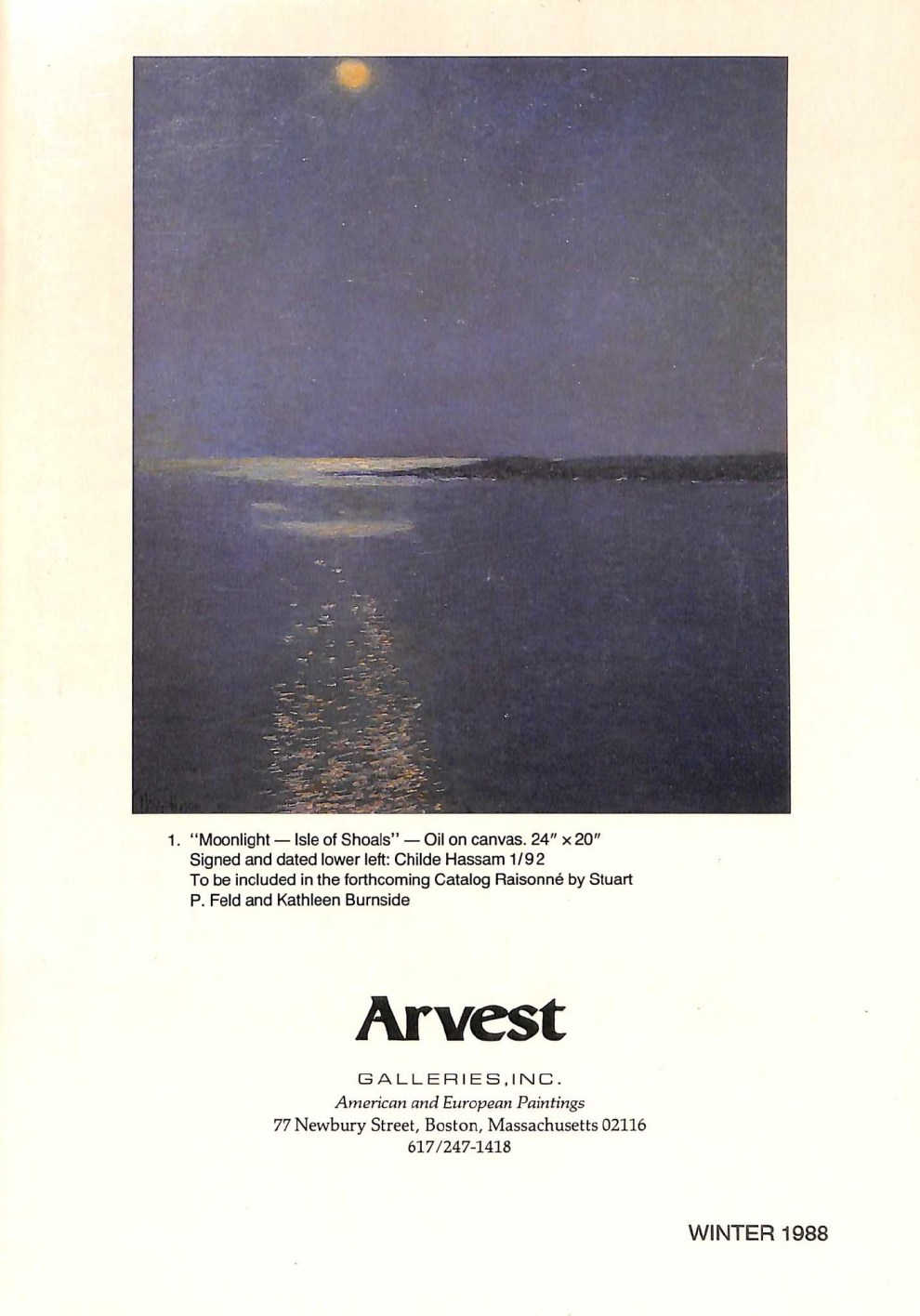 Gallery Catalog: Arvest Winter 1988