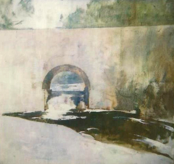 Emil Carlsen : Study for the archway, ca.1928.