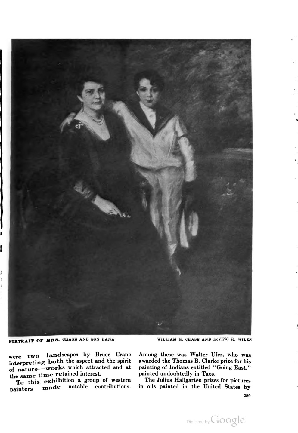 "The American magazine of art [Art and progress], The American Federation of Arts, New York, NY, ""The National Academy's ninety-third annual exhibition"", volume 9, number 7, May, 1918, page 288-291, not illustrated."