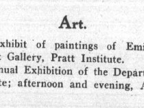 "Brooklyn Life, Brooklyn, NY, ""Art"", Saturday, April 30, 1910, page 3, not illustrated."