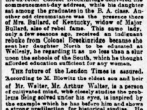 """The Indianapolis Journal, Indianapolis, IN, """"About people and things"""", Friday, June 29, 1888, not illustrated."""