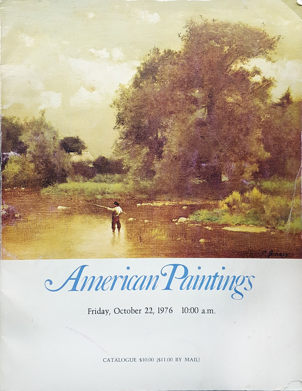 "Richard A. Bourne Company, Inc. [1955-1997], Hyannis, MA, ""American paintings liquidating in part the collection of the late Daniel Kurland of Philadelphia, PA; two important Massachusetts collections, plus a few selected paintings from estate collections"", October 20-22."