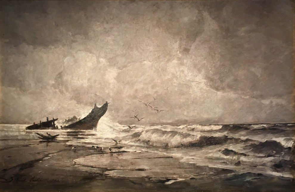 Emil Carlsen : Nantasket Beach Nor'easter, 1882.