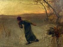 Emil Carlsen : Pulling wood, 1887.
