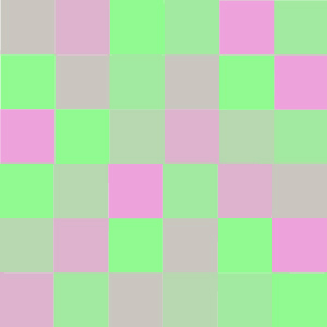 A gradient fading from pink to green