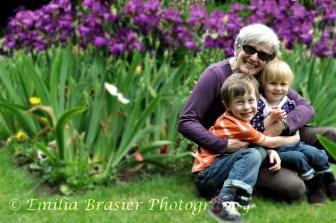 grandma and kids