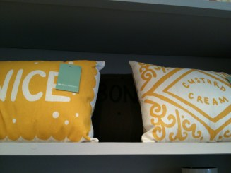 Amazing biscuit themed cushions