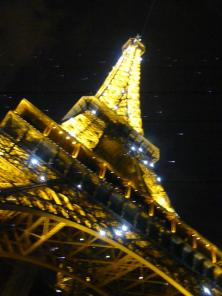 Eiffel Tower doing its light show