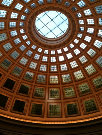 The beautiful domed ceiling of Nottingham Council House